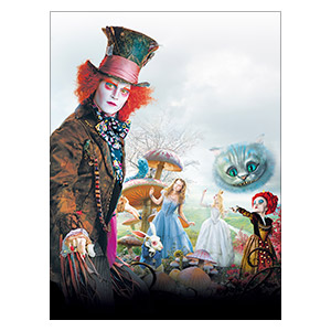 Alice in Wonderland. Размер: 30 х 40 см